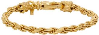 Emanuele Bicocchi Gold Rope Chain Bracelet