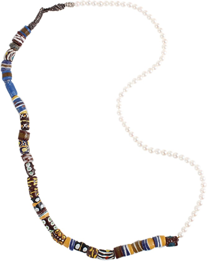 BOAZ KASHI Ceramic Bead and Pearl Necklace