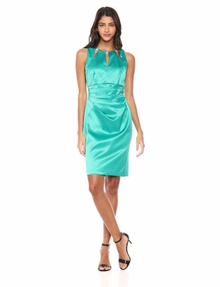 Brinker & Eliza Women's Sleeveless Triple Cutout Dress with Side Pleat