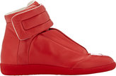 Maison Margiela Men's Future Ankle-Strap Sneakers-RED
