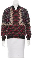 Emma Cook Abstract Print Bomber Jacket