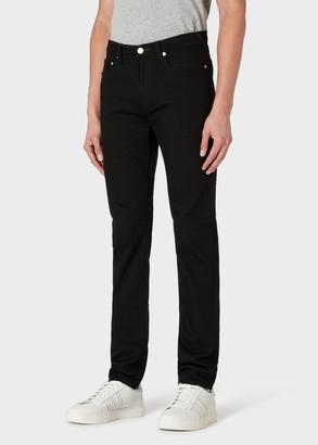 Paul Smith Men's Slim-Fit 12oz 'Black Stretch' Denim Jeans