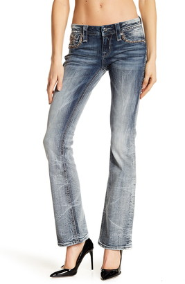 Rock Revival Betty Bootcut Rhinestone Embellished Jeans