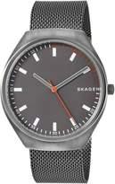Skagen Men's 'Grenen' Quartz Titanium and Stainless Steel Casual Watch, Color:Grey (Model: SKW6387)