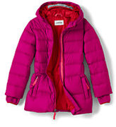 Classic Little Girls Midweight Down Parka-Deep Pink