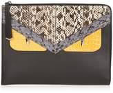 Fendi Crayons Bag Bugs crocodile and snakeskin pouch
