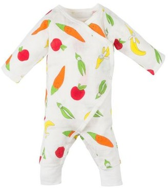 Under the Nile Side Snap Kimono - Fruit and Veggie Muslin - 3-6M