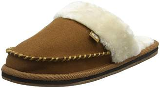 Animal Women's Bessie Open Back Slippers, Brown (Dijon Brown), 35 1/2 EU