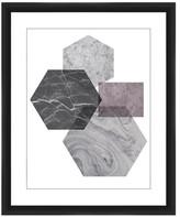 PTM Images Geometric Patterns I Framed Giclee Art - 22x18