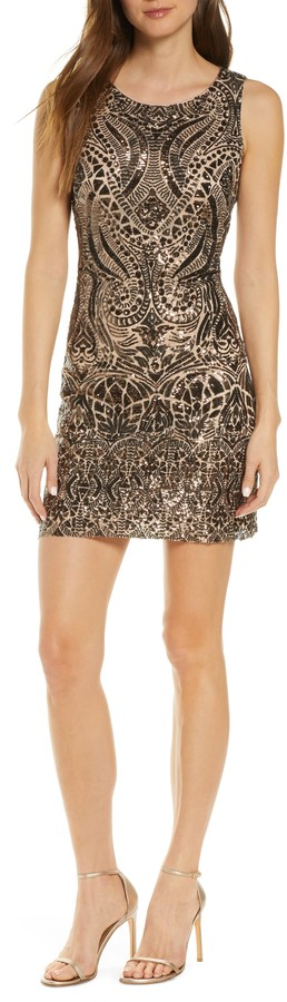 Vince Camuto Sequin Cocktail Dress