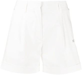 Off-White Printed Logo High-Waisted Shorts