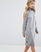 Whistles Split Shoulder Knit Dress
