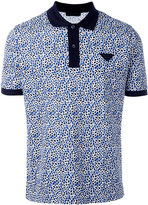Prada abstract print polo shirt - men - Cotton - S