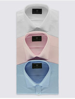 M&S Collection 2in Longer 3 Pack Easy to Iron Shirt