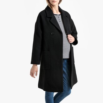 La Redoute Collections Maternity Mid-Length Double-Breasted Coat