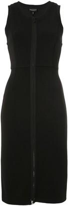 Emporio Armani Zip-Up Sleeveless Short Dress