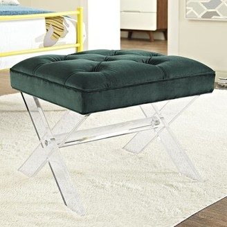 Brayshaw Vanity Stool Mercer41 Color: Green