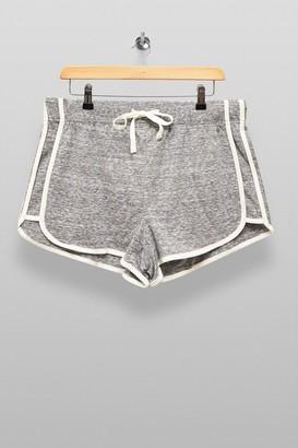 Topshop Womens Grey Marl Sport Neppy Runner Shorts - Grey Marl