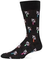 Hot Sox Bulldog Tie Crew Socks
