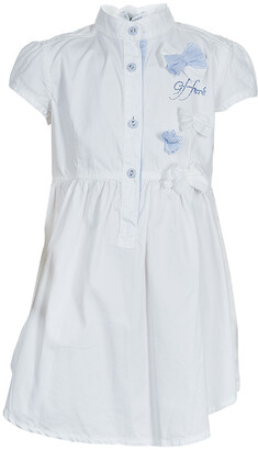Gianfranco Ferre GF White Swarovski Logo Dress 6 Yrs