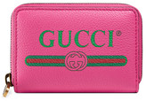 Gucci logo leather card case