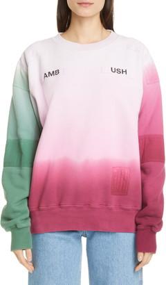 Ambush Dip Dye Patchwork Sweatshirt