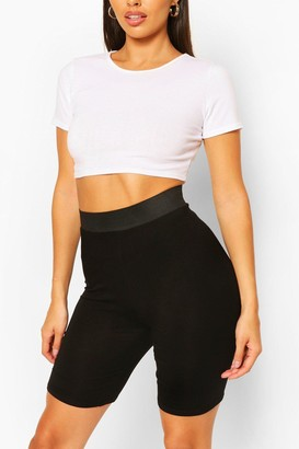 boohoo Elasticated High Waist Cycling Short