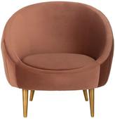 Safavieh Razia Channel Tufted Tub Chair, Dusty Rose/Gold