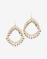 White House Black Market Beaded Teardrop Earrings