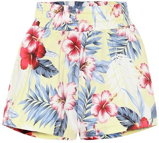 Les Rêveries Floral cotton shorts
