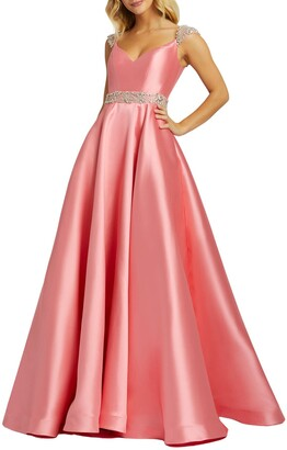 Mac Duggal Sweetheart A-Line Satin Gown