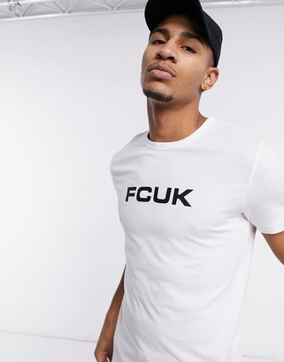 French Connection logo t-shirt in white