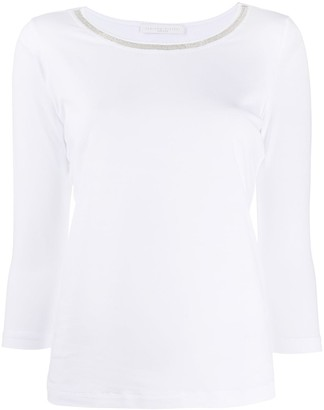 Fabiana Filippi contrast neck T-shirt