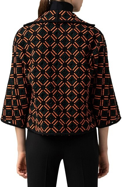 Thumbnail for your product : Akris Embroidered Wool Cropped Jacket