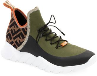 Fendi Men's Mid-Top Sock Sneakers
