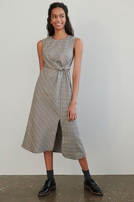 Maeve Reese Plaid Maxi Dress By in Black Size 0