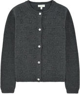 Margherita Embossed cardigan with lurex