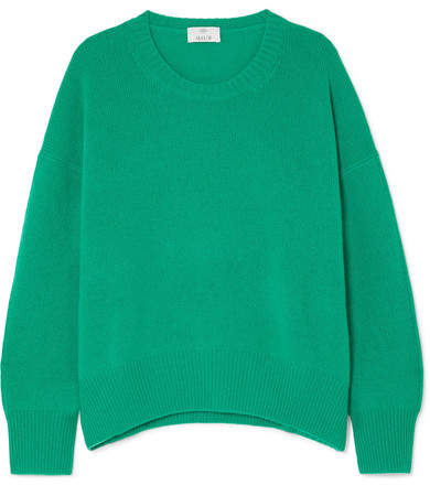 Allude Oversized Cashmere Sweater - Green