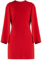 Givenchy Round-neck long-sleeved cady mini dress
