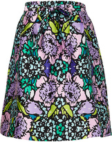 Melissa McCarthy Purple Floral Bouquet A-Line Skirt - Plus