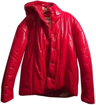 Awake Red Polyester Coats