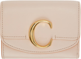 Chloé Pink Small C Trifold Wallet