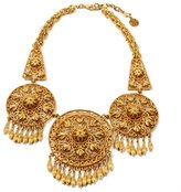 Ben-Amun Gypset Three Pendant Tassel Necklace