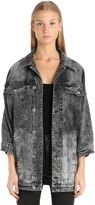 Diesel Bleached Ruffled Cotton Denim Jacket