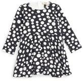 Armani Junior Polka Dot Jersey Dress (Baby Girls)