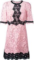 Dolce & Gabbana lace dress - women - Cotton/Viscose/Polyamide/Spandex/Elastane - 46