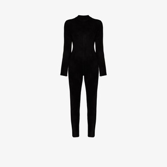 Alaia Fitted High Neck Jumpsuit