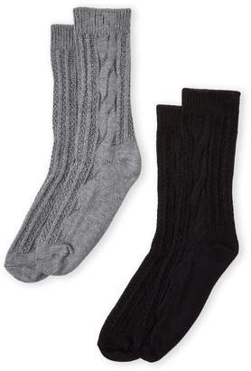Hue Two-Pack Cable Knit Boot Socks