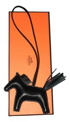 Hermã ̈S HermAs Rodeo Black Leather Bag charms