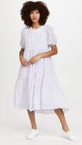 Thumbnail for your product : ENGLISH FACTORY Tiered Gingham Maxi Dress